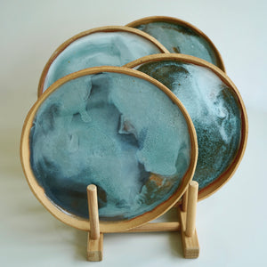 Sea foam plate set (4)