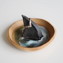 Load image into Gallery viewer, Baby Shark Fin Dish in sand