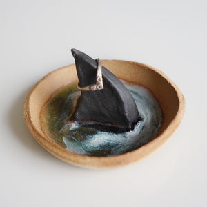 Baby Shark Fin Dish in sand