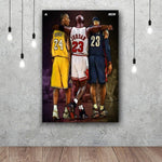 Kobe. Mike. Lebron Oil Painting