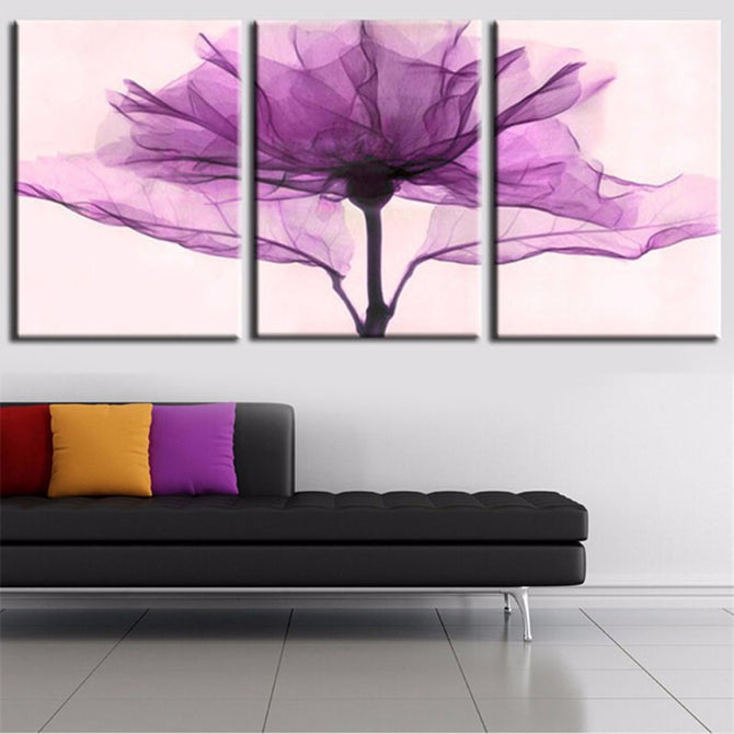 Abstract Purple Leaves