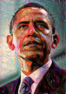 Obama Oil Painting