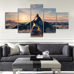 Snow Mountain Sunrise 5 Panel