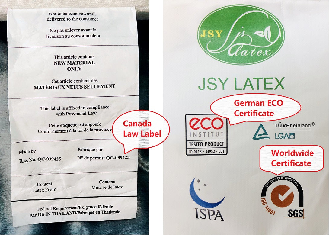 Latex pillow Certificates Mr Pillow Global