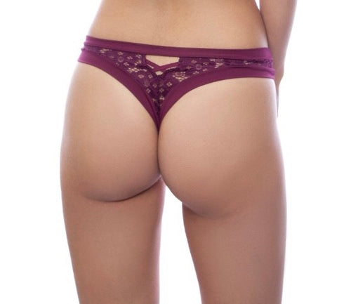 Plum Purple Thong - Lelek - Ayrawear