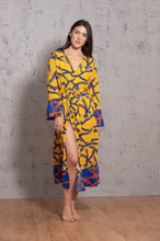 Load image into Gallery viewer, YELLOW CHAINS KIMONO