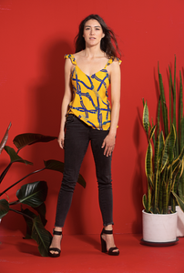 TOP BOLERO YELLOW - Ayrawear