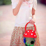 Adorable Mushroom Shaped  Women's Handbag - Multimush