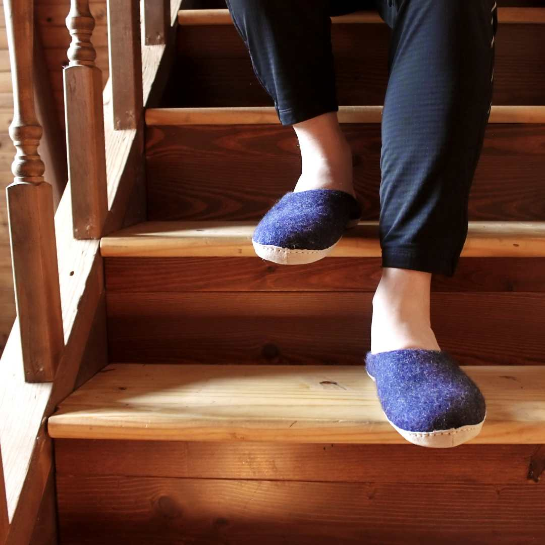 """Indigo Astoria slipper"