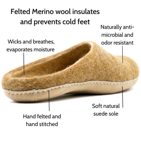 Felted Merino Slippers
