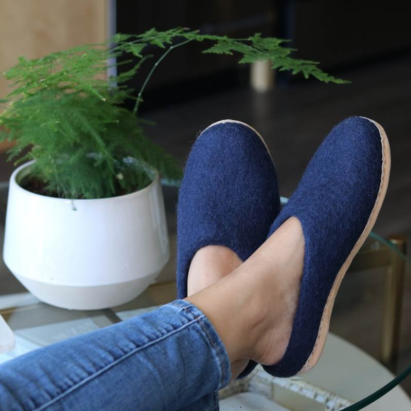 Navy Astoria Slipper