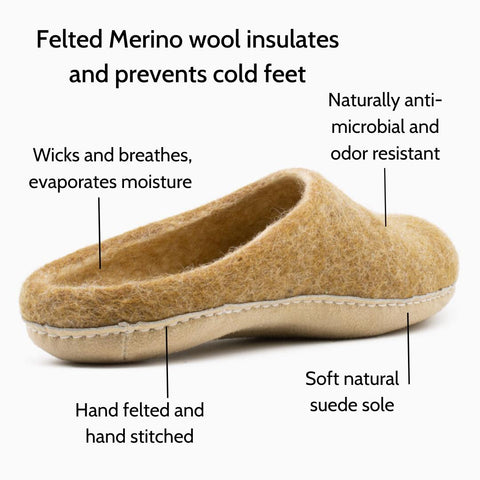 Features of Nootkas Astoria Slippers