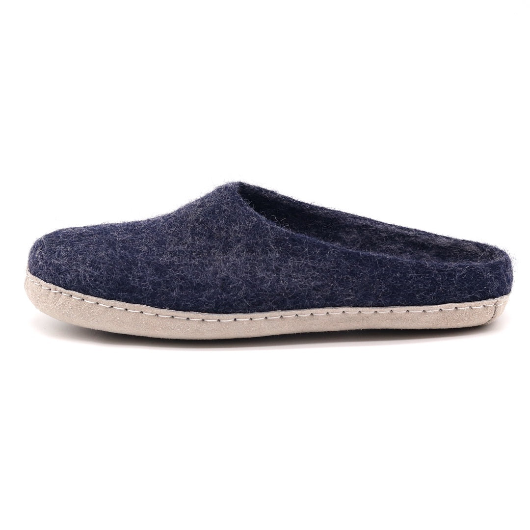 Men's Astoria Wool House Slippers in Indigo