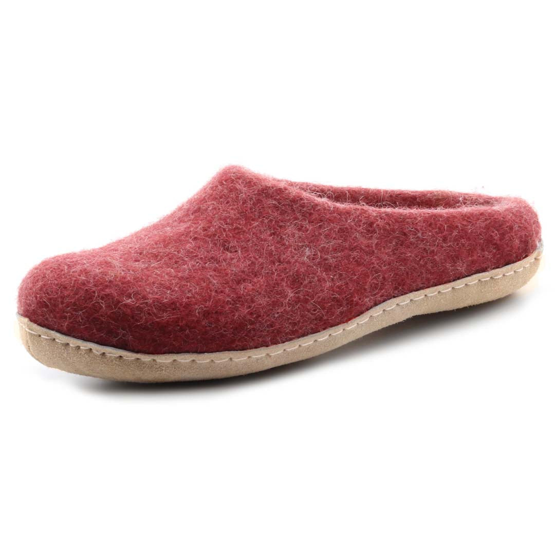 Women's Astoria Wool House Slippers in Bordeaux