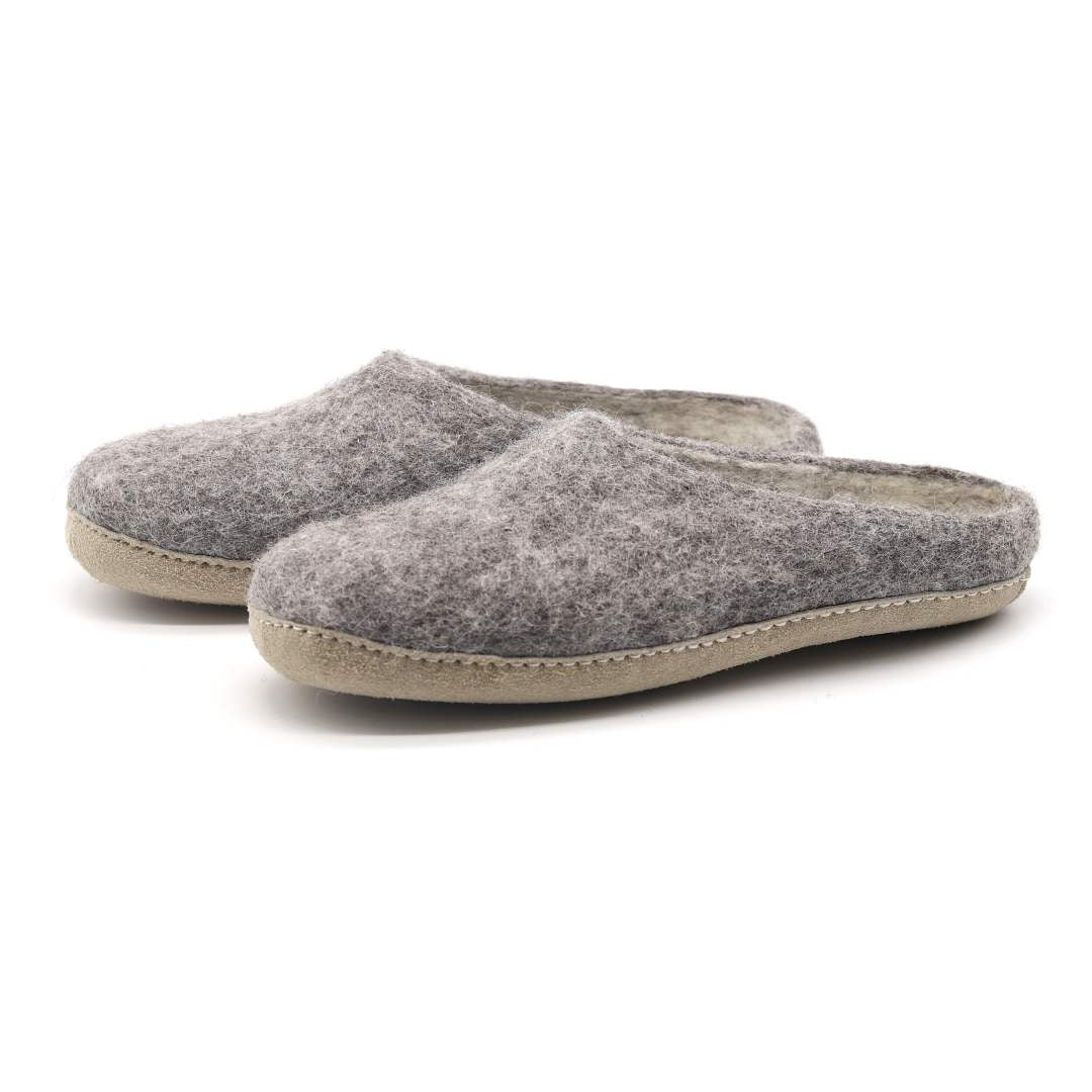 Women's Astoria Wool House Slippers in Heather