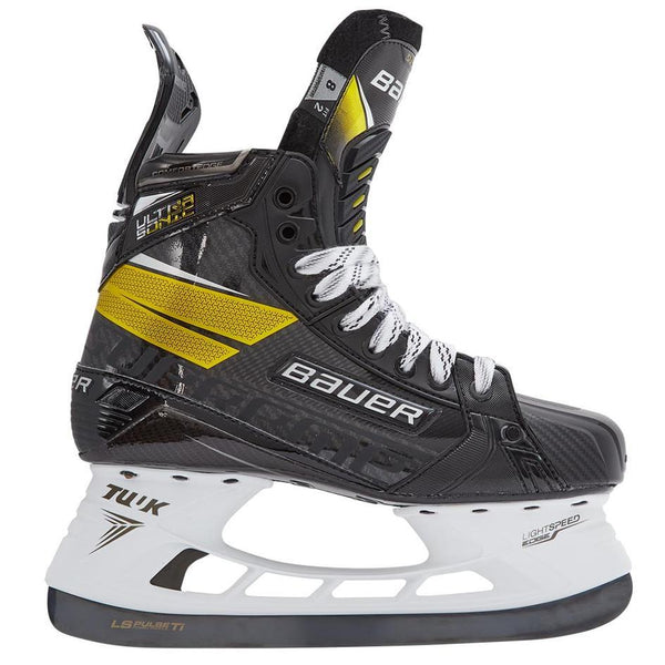 Bauer Supreme Ultrasonic Intermediate Ice hockey skates.