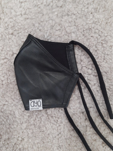 F-Mask Fake leather Black