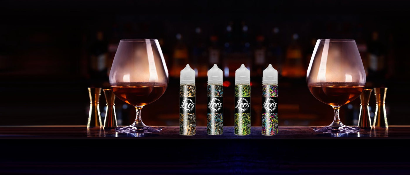 lees eliquid in alcohol inspired flavours