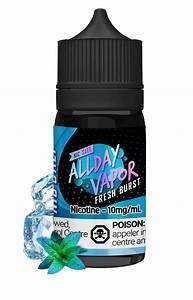 All Day Vapor Salts Fresh Burst / 10mg All Day Vapor Salts 30ml