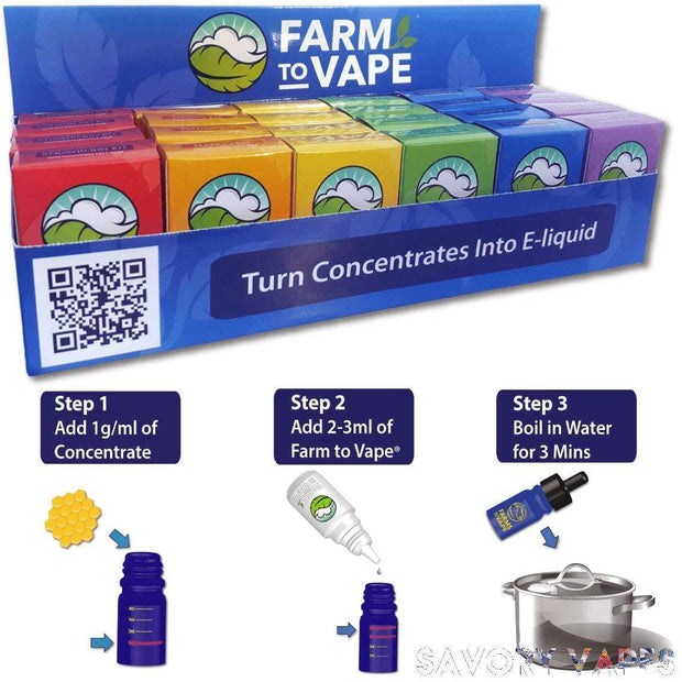 FARM VAPE Herb & Wax Vaporizers Farm to Vape, Vape Concentrate diluting Kits in Various Flavours