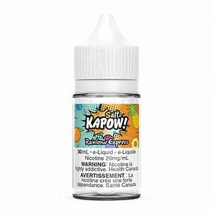Kapow Salts Rainbow Express / 12mg Kapow Nic Salt Juices 30ml