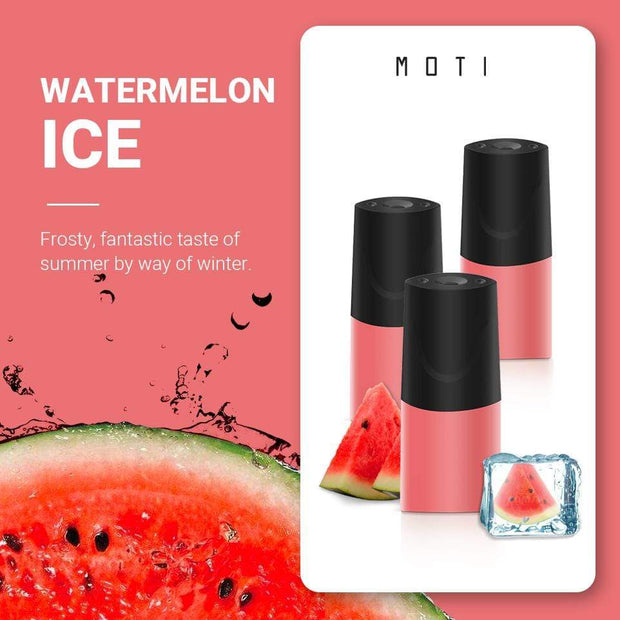 MOTI Pre Filled Pods Watermelon Ice / 20mg MOTI Vape Prefilled Juice Pods - 3/pk