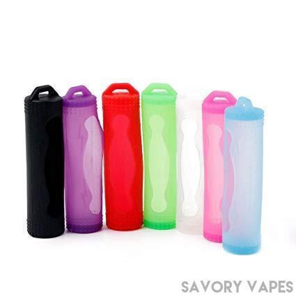 Savory Vapes Battery Cases 18650 Battery Skins in various colors