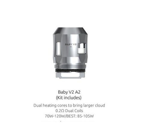 SMOK Coils V2 A2 - 0.2Ω SMOK - TFV8 Baby  Mesh Replacement Coils (3 pack)
