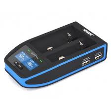 XTAR Chargers XTAR Over 4 Slim 2 Channel Intelligent Digital Battery Charger - Black