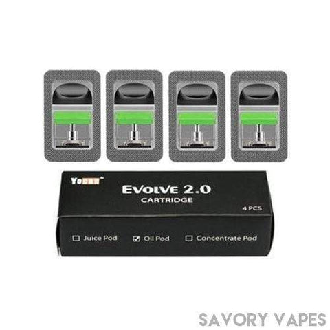 YOCAN Cartridges Oil Ceramic Replacement Pods 4 Pk Yocan Evolve 2.0 replacement pods
