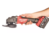 Smerigliatrice angolare Milwaukee M18 CAG115X-502X Fuel 115 e Brushless + 2 batterie 18V 5,0Ah