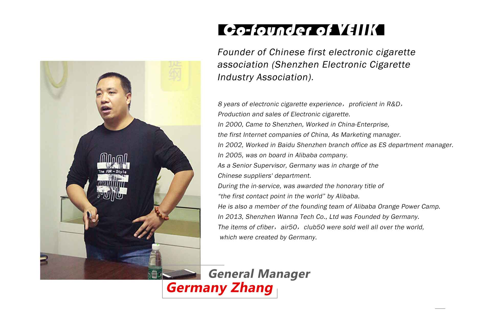 Veiik general manager Germany zhang