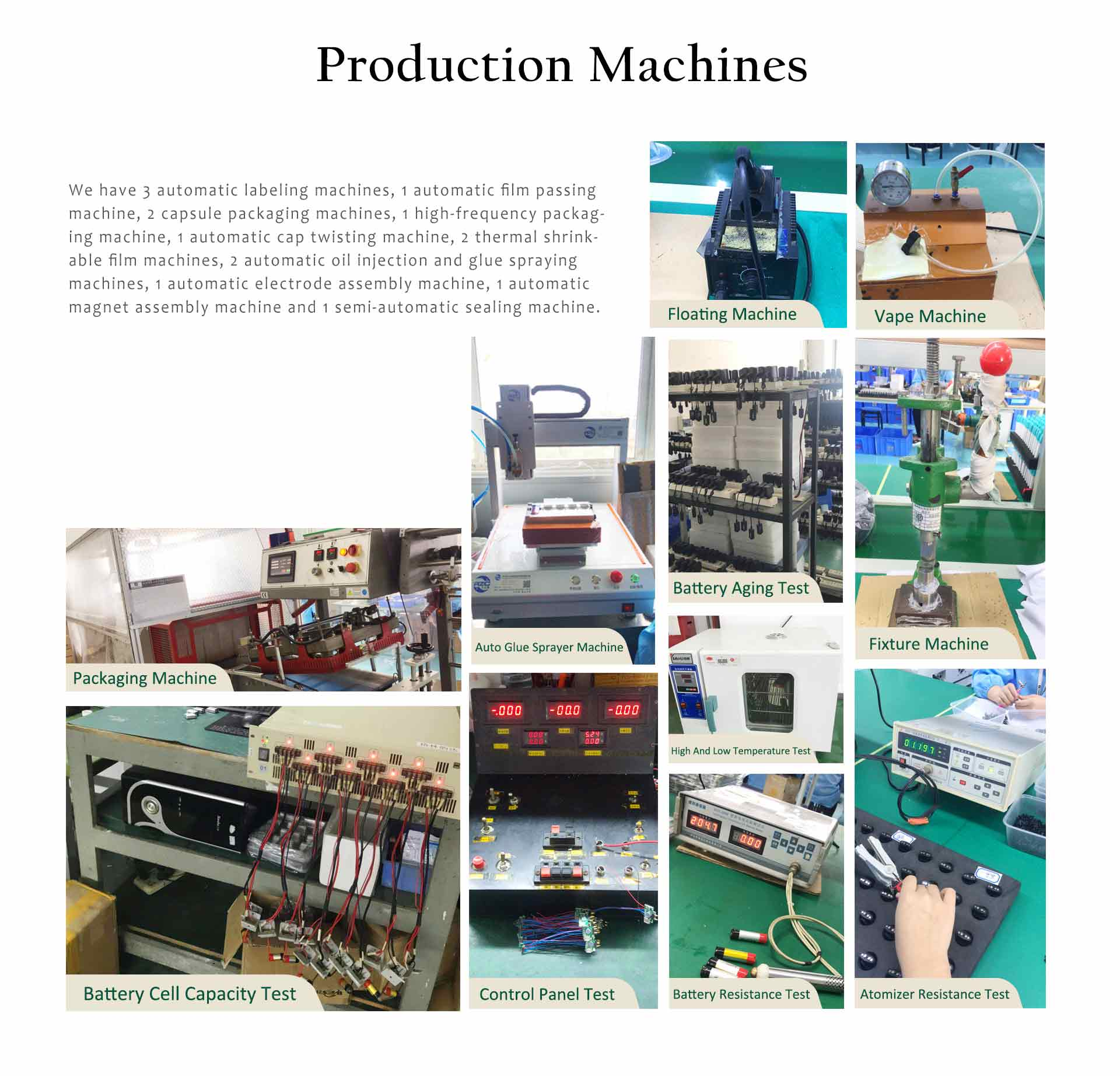 veiik production machines