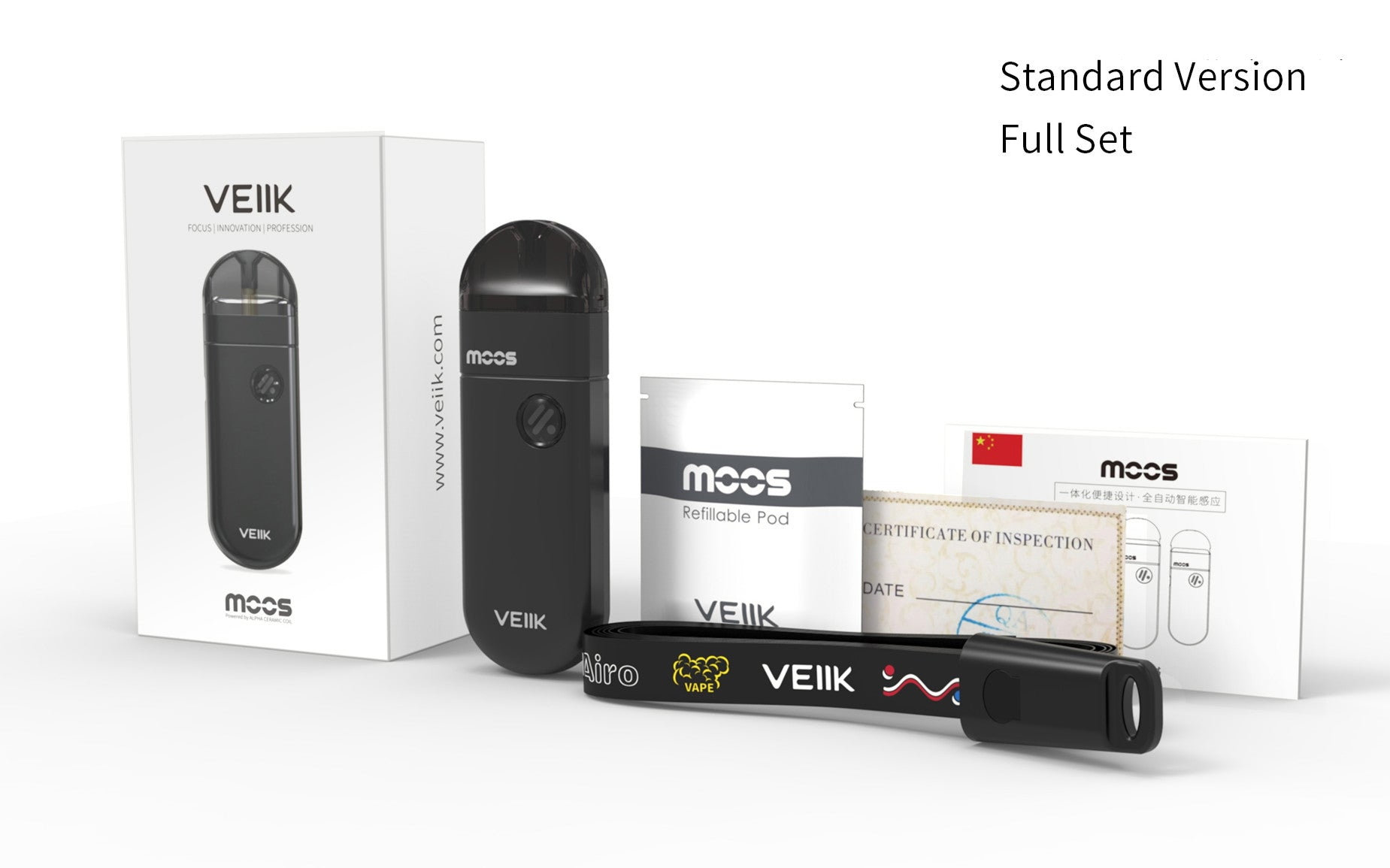 2019 Best-selling Original VEIIK MOOS Kit 1100mAh battery 2ml Vape Pod System Kit veiik moos