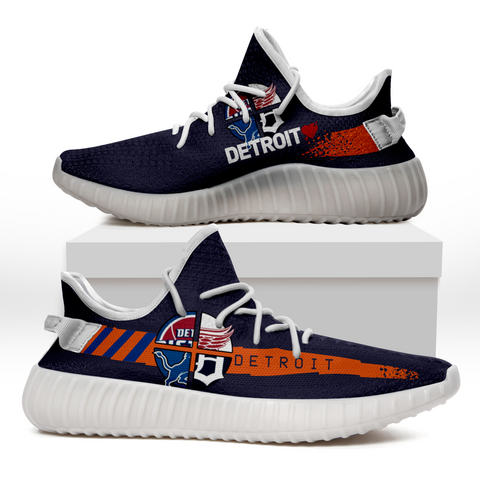 DETROIT Custom 3D Print Sneakers