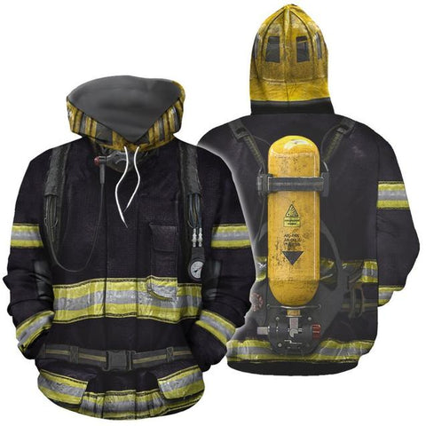 LIMITED EDITION 3D PRINTING FIREMAN HOODIES