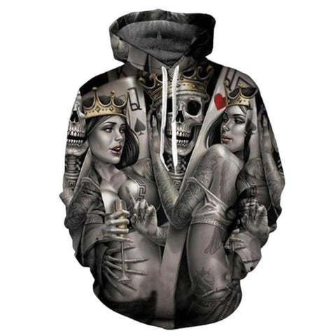 Fashion Men/Women 3d Sweatshirts Print Metal Skulls Bride Groom Hooded Hoodies