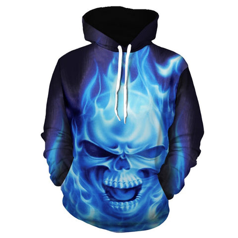 Mens 3D Printed Pullover Long Sleeve Hooded Sweatshirt Tops Blouse