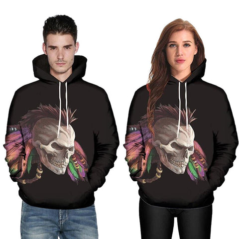 Men Women Mode 3D Abstract Print Long Sleeve  Couples Hoodies Top Blouse Shirts