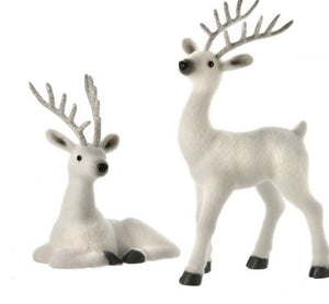 Set of 2 Frosty Deer