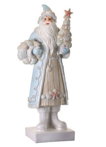 "15"" RESIN SEASHORE SANTA WITH SHELLS"
