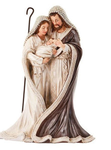 "12"" Resin Holy Family with Pearls"