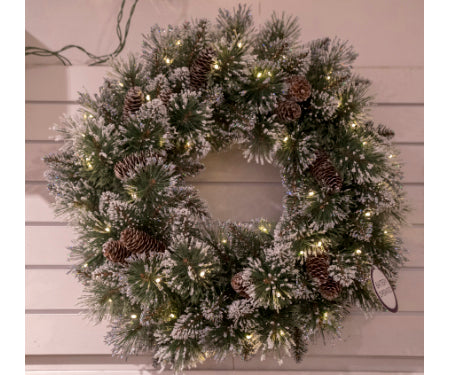 Artificial Glittery Pine Wreath