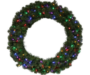 "30"" Kentucky Wreath with 100 Multi-Colored Lights"