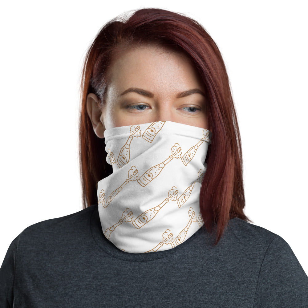Champagne Bottle Neck Gaiter/Face Covering