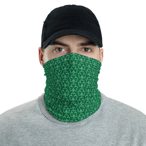 Shamrock Pattern Green Neck Gaiter/Face Covering