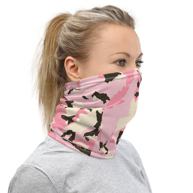 Pink Camouflage Neck Gaiter/Face Covering