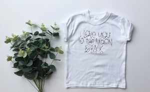 'I love you to the moon' tee