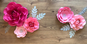 5 Piece Mia-Rose style Set with 4 Leaves