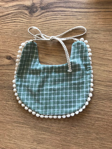 Stripe/polka reversible bib